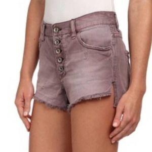 FREE PEOPLE NWT Cutoff Purple Fig Denim Shorts 30